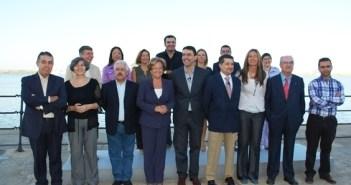 Foto de familia de los candidatos socialistas.