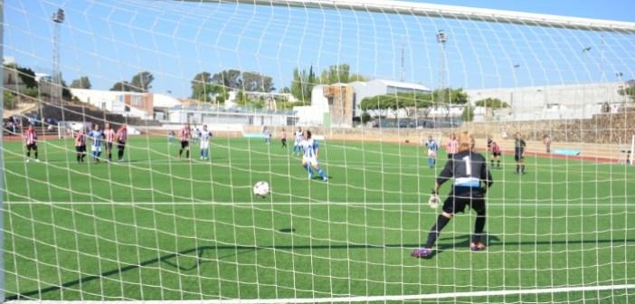 Penalti lanzado por Anita que le ha dado la victoria al Sporting.