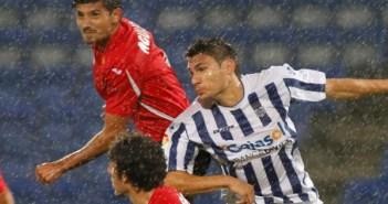 Visita la temporada pasada del Murcia al Nuevo Colombino. (J. Pérez)
