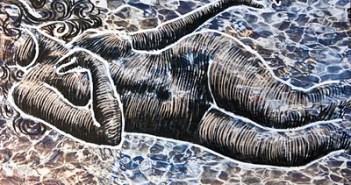 Una de las obras de la exposición en Almonte.