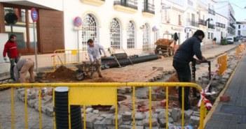 Obras en Cartaya.