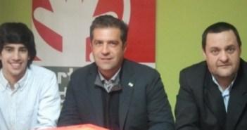 Francisco Ramos, candidato del PA, en el centro de la imagen.