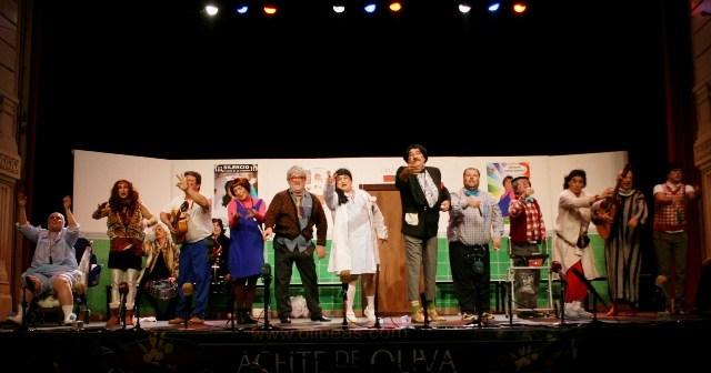 La pandilla del Agromán, en su actuación del Carnaval Colombino 2012.
