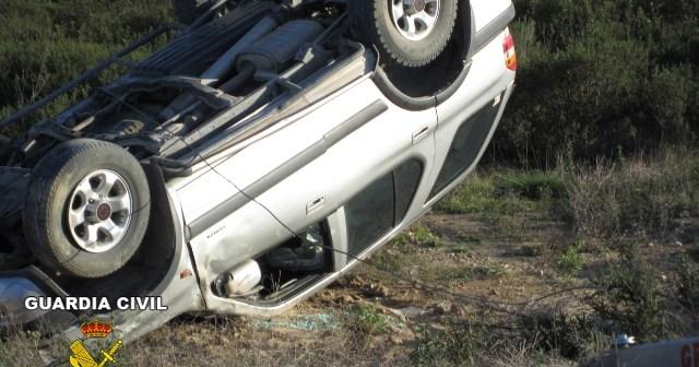 Estado en el que quedó el vehículos tras el accidente.