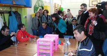 Visita de Micaela Navarro en Ayamonte.