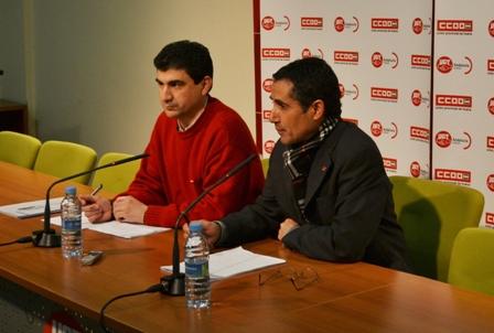 E. Fernández y J. Puente, en rueda de prensa.