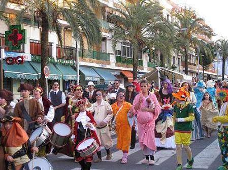 Festejos del carnaval de Punta Umbría.