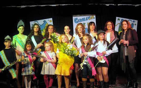Reinas y damas del carnaval de Punta Umbría.