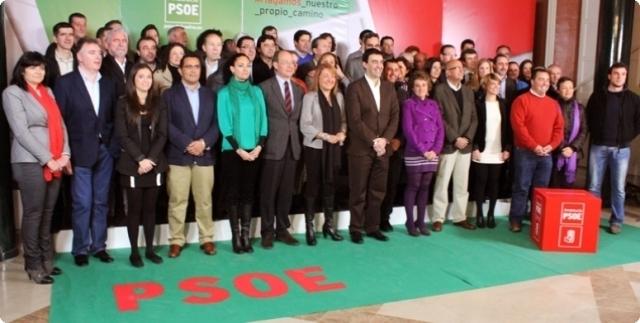 Presentación de la lista del PSOE para las autonómicas.