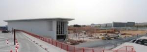 Obras en el centro comercial Holea de Huelva.