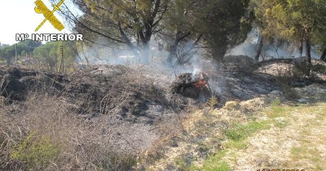 Incendio en Bonares.