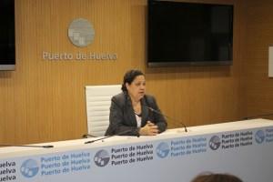 Manuela de Paz en rueda de prensa.