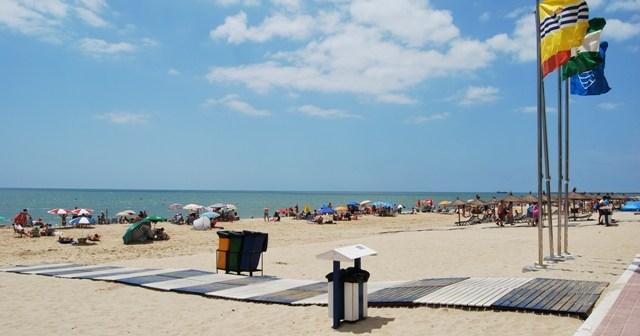Playa Central de Isla Cristina.