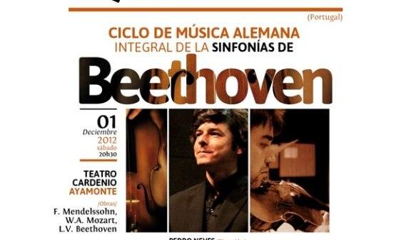 Cartel de una actuación en Ayamonte de la Orquesta del Algarve.