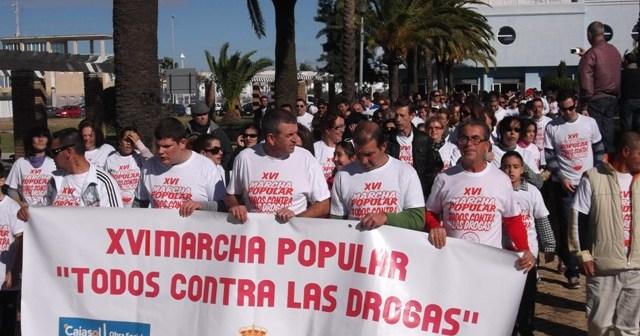 Salida de la marcha contra la droga en Isla Cristina.