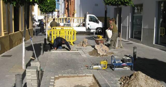 Obras en La Palma del Condado.