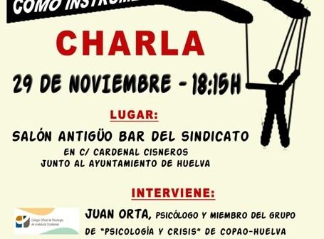 Cartel de la actividad de la Asamblea Ciudadana.