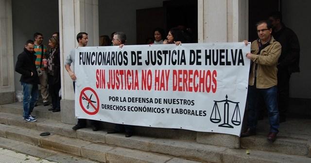 Protesta de los trabajadores de Justicia.
