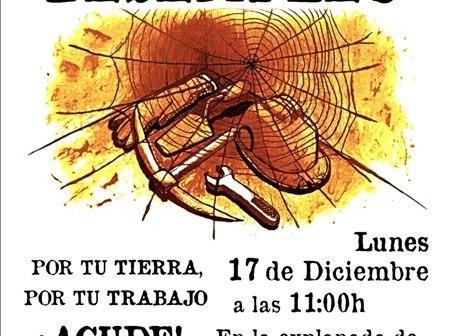 Cartel de la convocatoria del SAT Cuenca Minera.