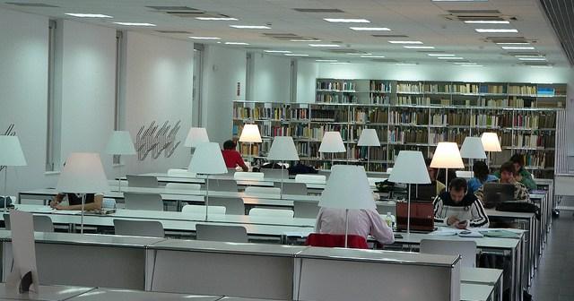 Biblioteca de la UNIA.