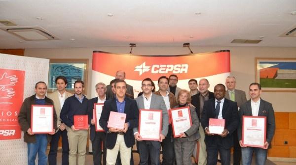 Foto de familia de todos los premiados por Cepsa.