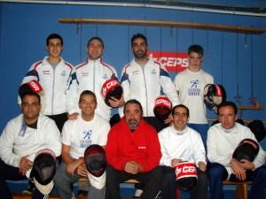 Tiradores del Club de Esgrima de Huelva.