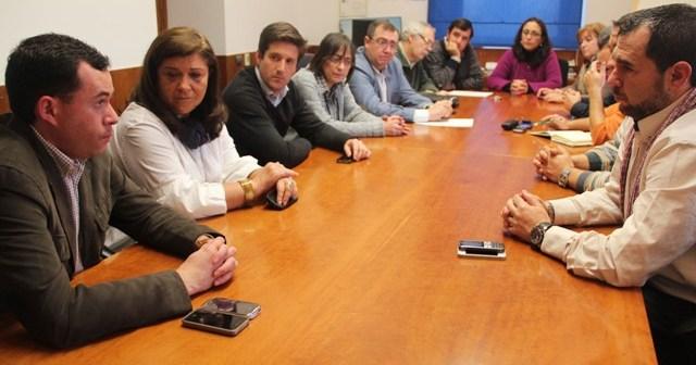 Reunión del PP en Minas de Riotinto.