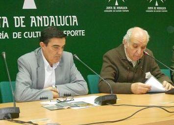 Presentación de la exposición de José María Franco (dcha. de la imagen).