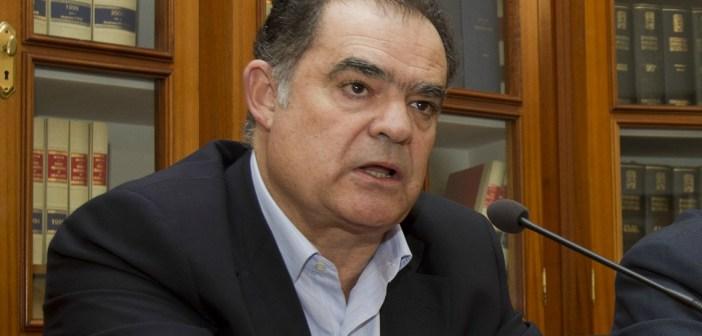 Juan Carlos Lagares, alcalde de La Palma, en una comparecencia ante los medios. (Julián Pérez)