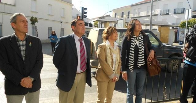 Visita del delegado de Educación a instalaciones educativas de Valverde.