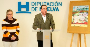 El alcalde de Aracena presenta el Mercado del Queso en la Diputación.
