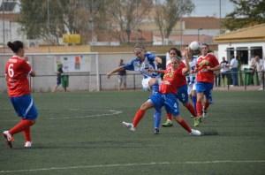 Partido entre el Cajasol Sporting y el Atlético de Madrid.