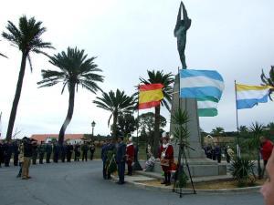 Imagen de archivo del acto de conmemoración de la partida del Plus Ultra desde Palos.