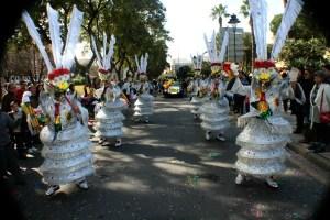 Imagen de archivo de la cabalgata del Carnaval Colombino de Huelva.