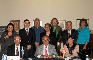 Representantes de la UNIA en su visita a Panamá.