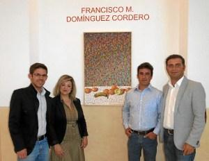 Inauguración de le exposición en Moguer.