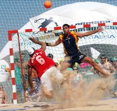 Torneo de balonmano playa.
