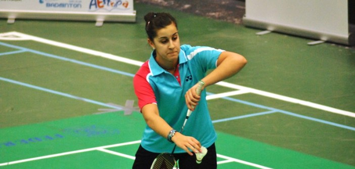 Carolina Marín, en el Campeonato de España absoluto.