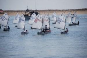 Campeonato de España de óptimist en Punta Umbría.