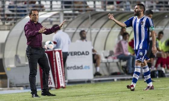 Sergi Barjuan, en el partido ante el Murcia.