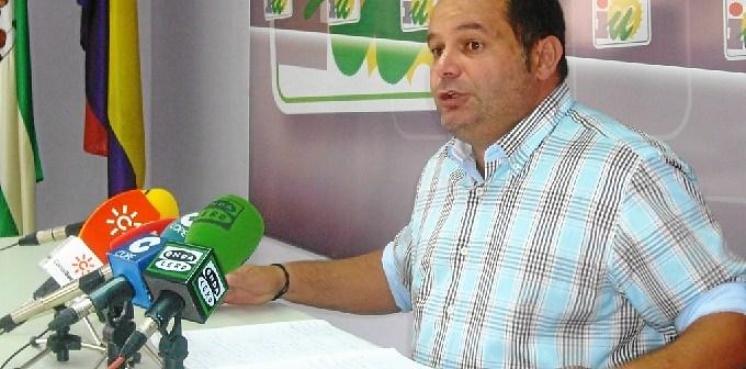 Rafael Sánchez, portavoz de IU en la Diputación.
