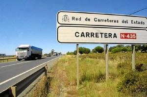 Carretera nacional en la provincia de Huelva.