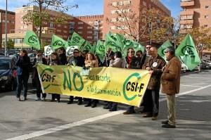 Movilización del CSIF en Huelva.