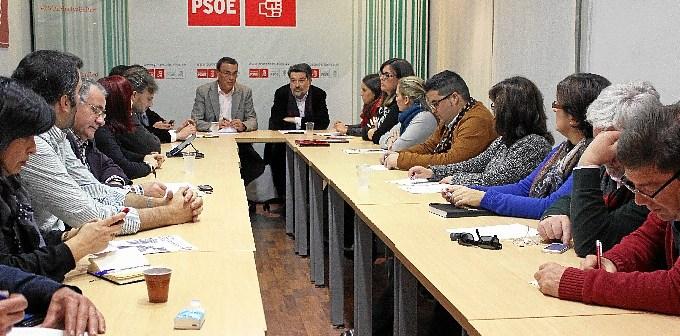 Reunión de la Ejecutiva del PSOE.