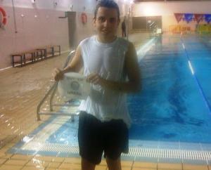 Pablo Vázquez, nadador del Club Natación Huelva.