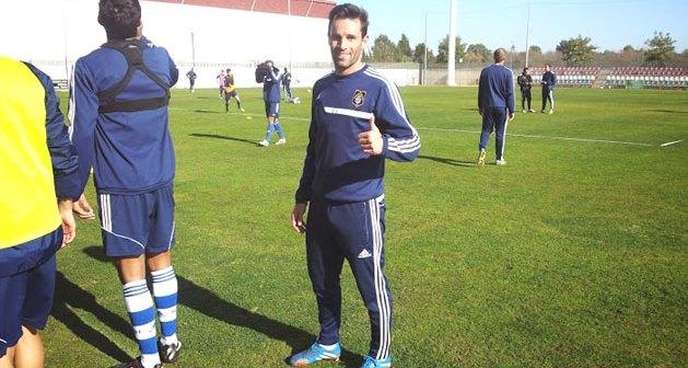 Arana, delantero del Recreativo de Huelva.