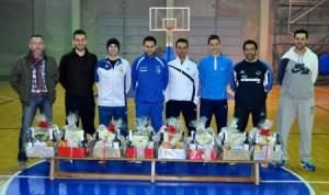 Cesta de navidad del CD Huelva Baloncesto.