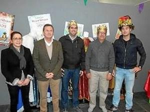 El alcalde con los Reyes Magos.