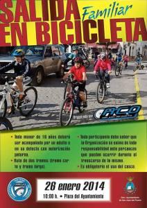 Cartel de las salidas familiares en bicicleta.
