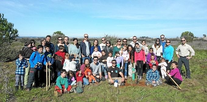 El grupo participante en las Marisma del Odiel.